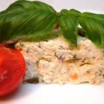 Serek biały z ziołami i suszonymi pomidorami