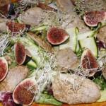 Polędwiczki na sałacie z figami