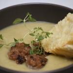 Zupa porowa z pulpecikami drobiowymi